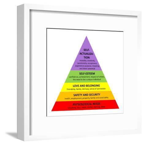 Maslow Pyramid-Elenarts-Framed Art Print