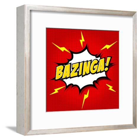 Bazinga! Comic Speech Bubble, Cartoon-jirawatp-Framed Art Print