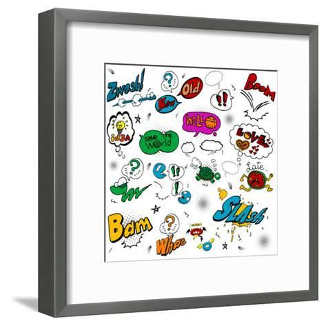 Comic Illustration-bspmaxx-Framed Art Print