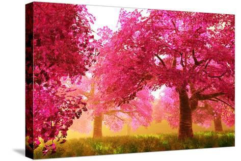 Mysterious Japanese Cherry Blossom Tree Sakura Render-boscorelli-Stretched Canvas Print