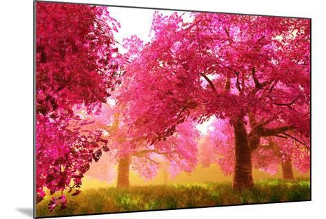 Mysterious Japanese Cherry Blossom Tree Sakura Render-boscorelli-Mounted Art Print