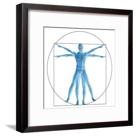Vitruvian Human or Man, Anatomy Body for Biology-bestdesign36-Framed Art Print