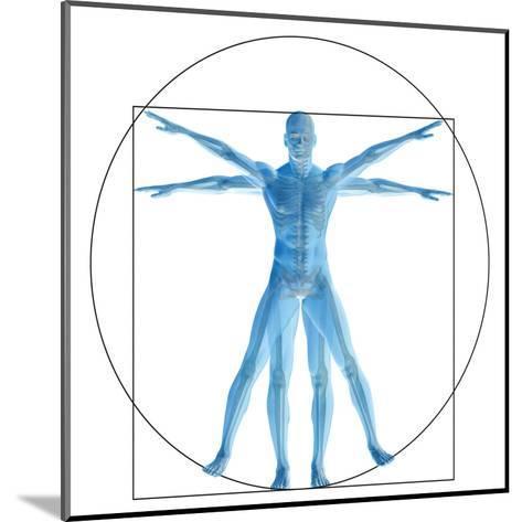Vitruvian Human or Man, Anatomy Body for Biology-bestdesign36-Mounted Art Print