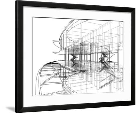Abstract Constructions of Line- NesaCera-Framed Art Print