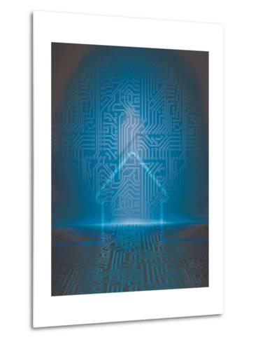 Home Automation Background-germina-Metal Print
