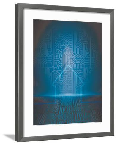 Home Automation Background-germina-Framed Art Print