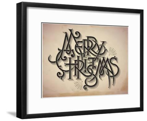 Vintage Style Detailed Christmas Card-traffico-Framed Art Print