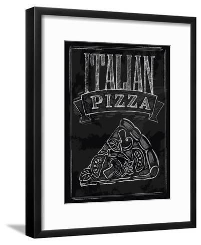 Chalk Pizza-bioraven-Framed Art Print