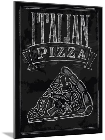 Chalk Pizza-bioraven-Mounted Art Print