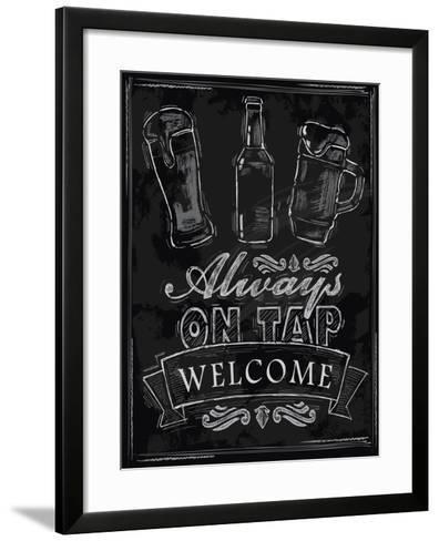 Chalk Beer-bioraven-Framed Art Print