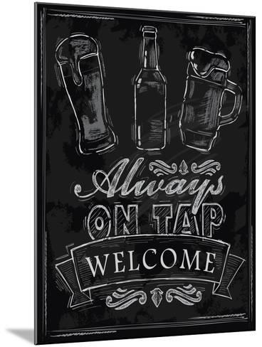 Chalk Beer-bioraven-Mounted Art Print