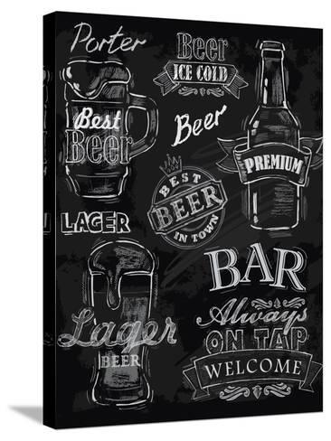 Chalk Beer-bioraven-Stretched Canvas Print