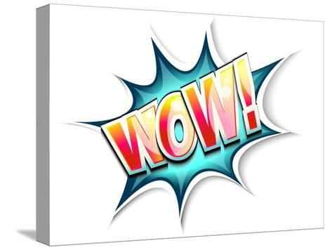 Wow Colored Comic Book Illustration-tilo-Stretched Canvas Print