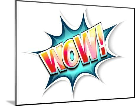 Wow Colored Comic Book Illustration-tilo-Mounted Art Print