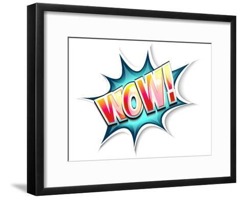 Wow Colored Comic Book Illustration-tilo-Framed Art Print