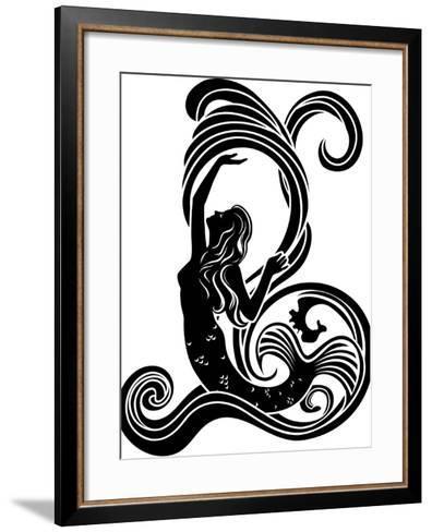 Mermaid in Waves-kristina0702-Framed Art Print