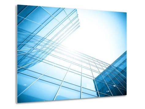 Glass Building Perspective View-Vladitto-Metal Print