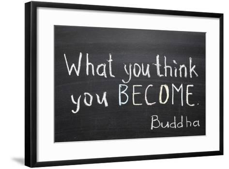 You Think and Become-Yury Zap-Framed Art Print