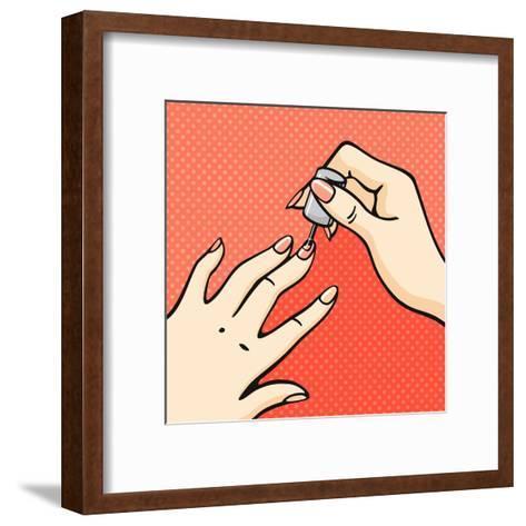 Manicure-Alena Kozlova-Framed Art Print