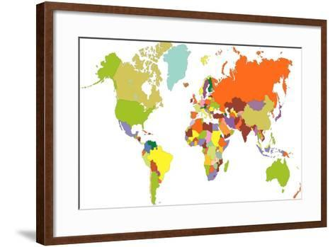 World Map-tony4urban-Framed Art Print