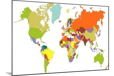 World Map-tony4urban-Mounted Art Print