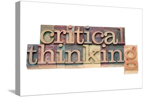Critical Thinking-PixelsAway-Stretched Canvas Print