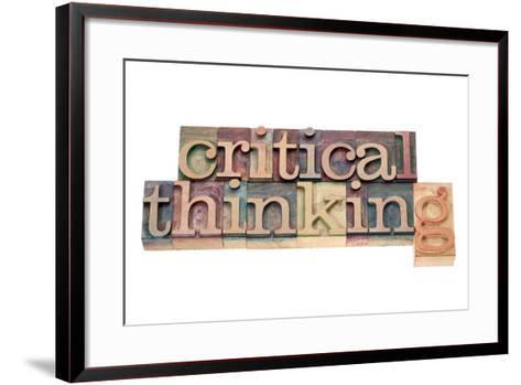 Critical Thinking-PixelsAway-Framed Art Print