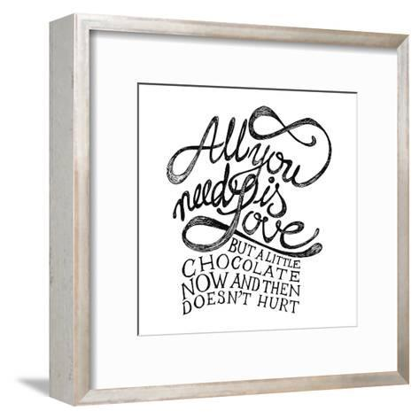 All You Need Is Love and Chocolate-ONiONAstudio-Framed Art Print