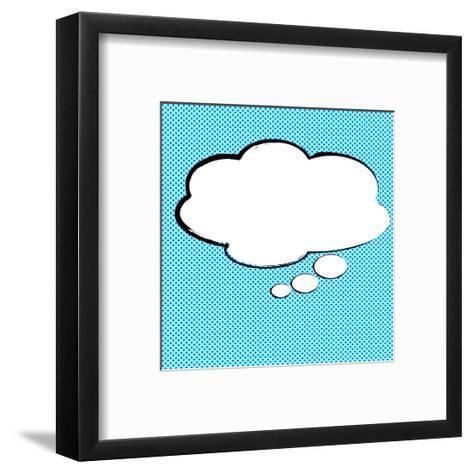 Speech Bubble Pop-Art Style-jirawatp-Framed Art Print