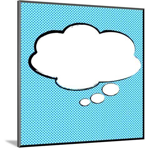 Speech Bubble Pop-Art Style-jirawatp-Mounted Art Print