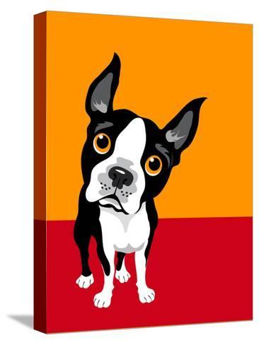 Illustration of a Boston Terrier Dog-TeddyandMia-Stretched Canvas Print