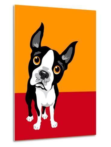 Illustration of a Boston Terrier Dog-TeddyandMia-Metal Print