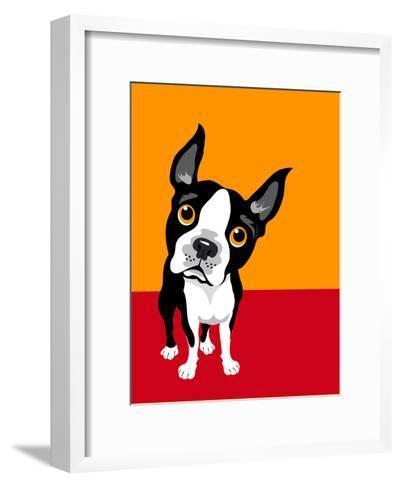Illustration of a Boston Terrier Dog-TeddyandMia-Framed Art Print
