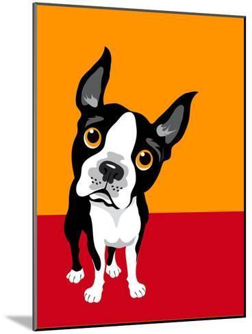 Illustration of a Boston Terrier Dog-TeddyandMia-Mounted Art Print