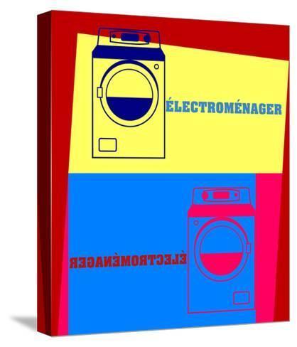 Washing Machine Pop Art-Argentique-Stretched Canvas Print