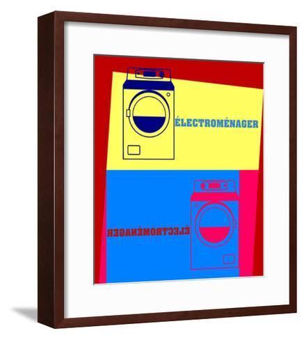 Washing Machine Pop Art-Argentique-Framed Art Print