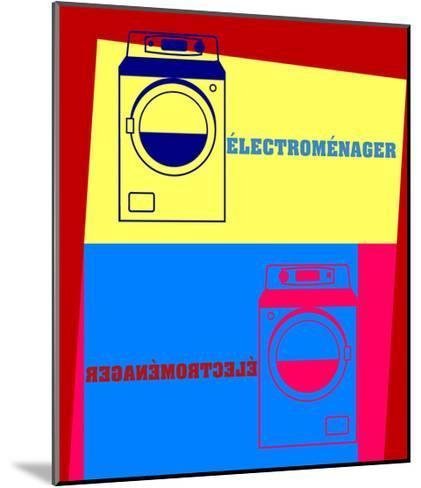 Washing Machine Pop Art-Argentique-Mounted Art Print