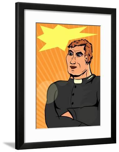 Superhero Priest-Norbert Sobolewski-Framed Art Print