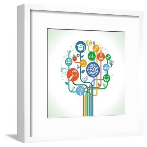Education and Science-venimo-Framed Art Print