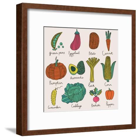 Tasty Vegetables-smilewithjul-Framed Art Print