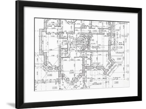 Blueprint-haveseen-Framed Art Print