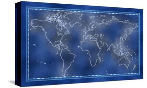 Old World Map-PCUMMINGS-Stretched Canvas Print