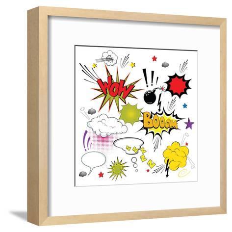 Comic Speech Bubbles- Agan-Framed Art Print
