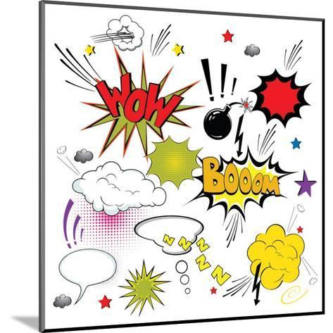 Comic Speech Bubbles- Agan-Mounted Art Print