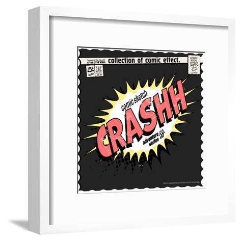 Comic Book Words Effect-studiohome-Framed Art Print