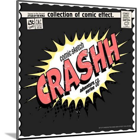 Comic Book Words Effect-studiohome-Mounted Art Print