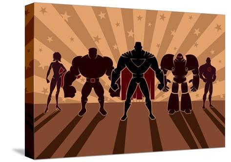 Superhero Team-Malchev-Stretched Canvas Print