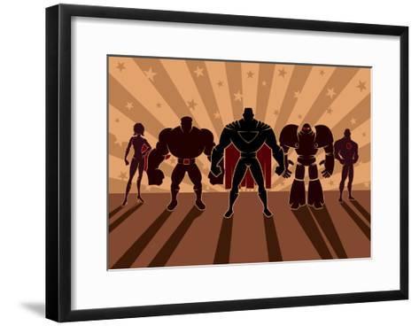 Superhero Team-Malchev-Framed Art Print