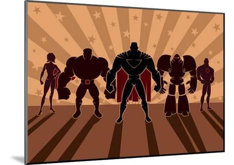 Superhero Team-Malchev-Mounted Art Print