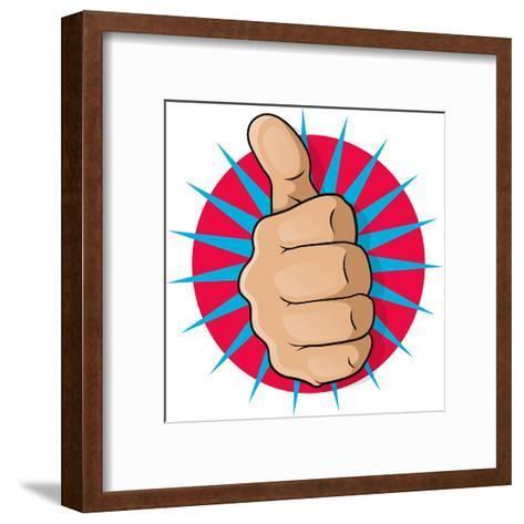 Vintage Pop Art Thumbs Up-jorgenmac-Framed Art Print